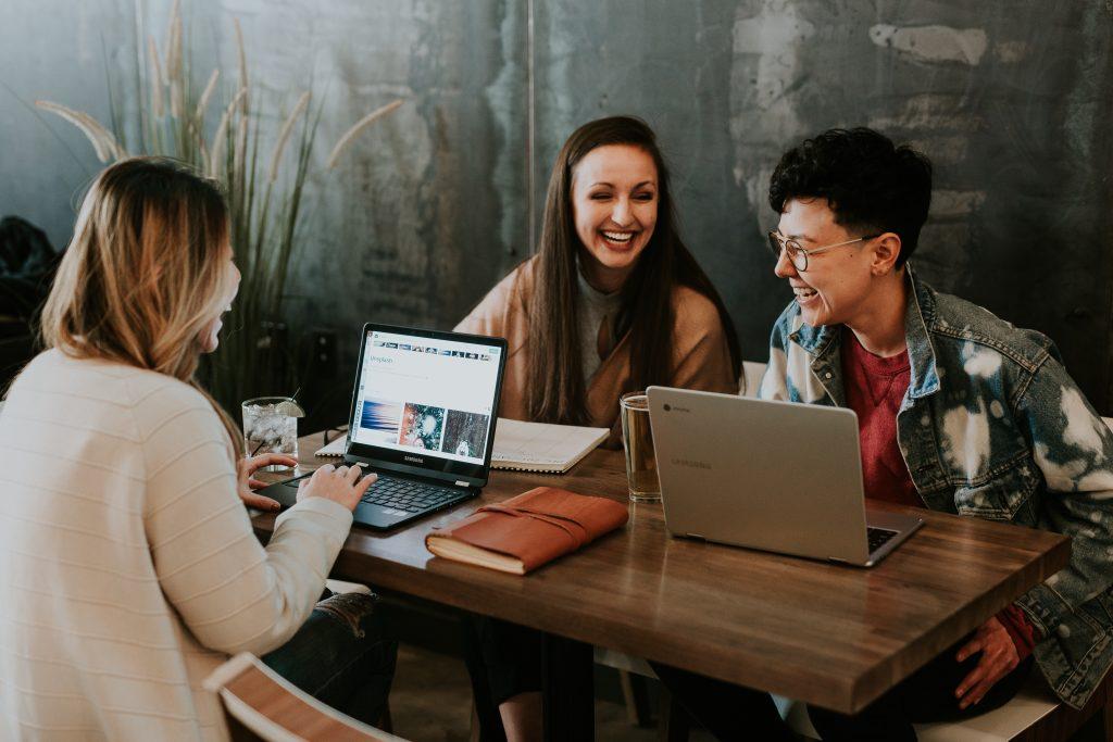 women coworking Denver