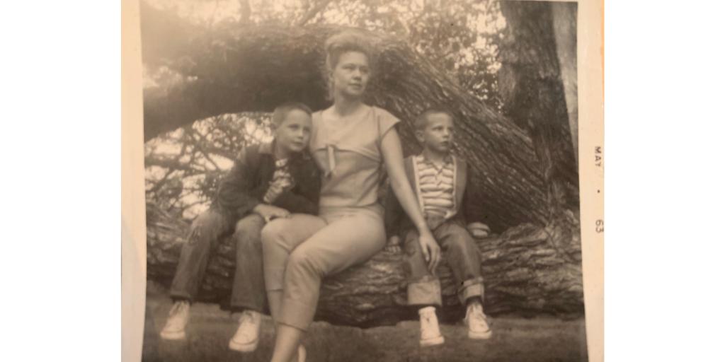 Mary Jane Schreck with Blake Schreck and Kirk Schreck