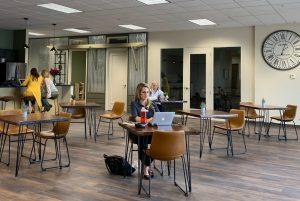 Cafe open flex space coworking women south denver