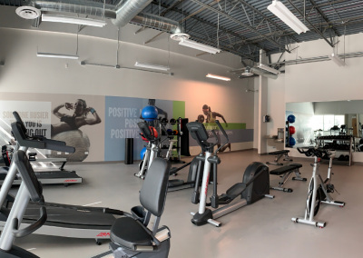 Fitness center in coworking space